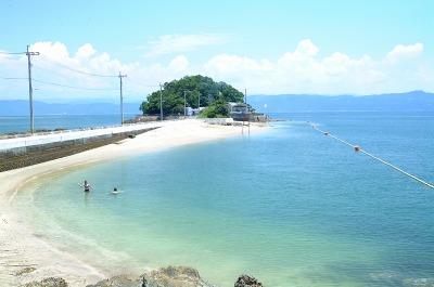 小島公園キャンプ場付近の海岸の写真